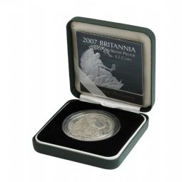 2007 Silver Proof Britannia Single With Certificate for sale